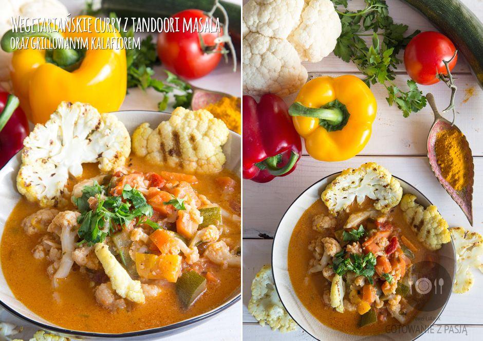 Wegetariańskie curry z tandoori masala oraz grillowanym kalafiorem