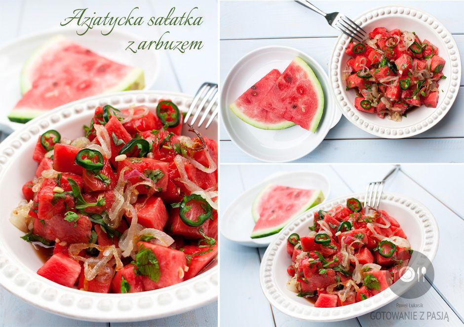 Azjatycka sałatka z arbuzem