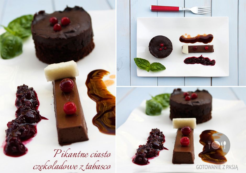 Pikantne ciasto czekoladowe z tabasco...