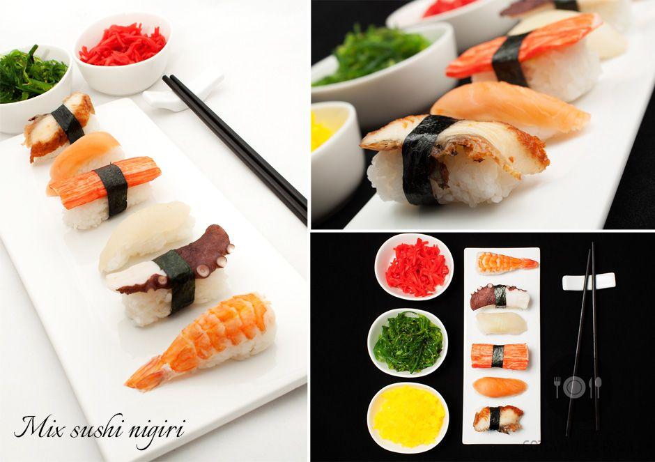 Mix sushi nigiri