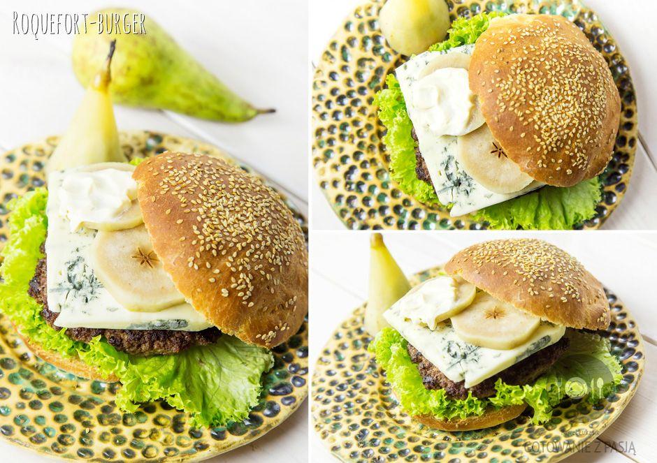 Roquefort-burger