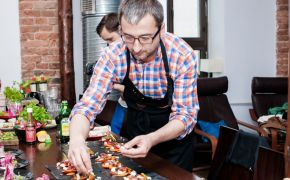 Krótka relacja z warsztatów kulinarnych pod znakiem Kikkoman oraz  Tabasco prowadzonych przez Grzegorza Łapanowskiego