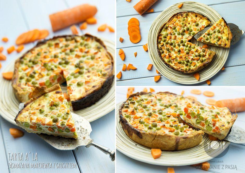 Tarta a'la zasmażana marchewka z groszkiem