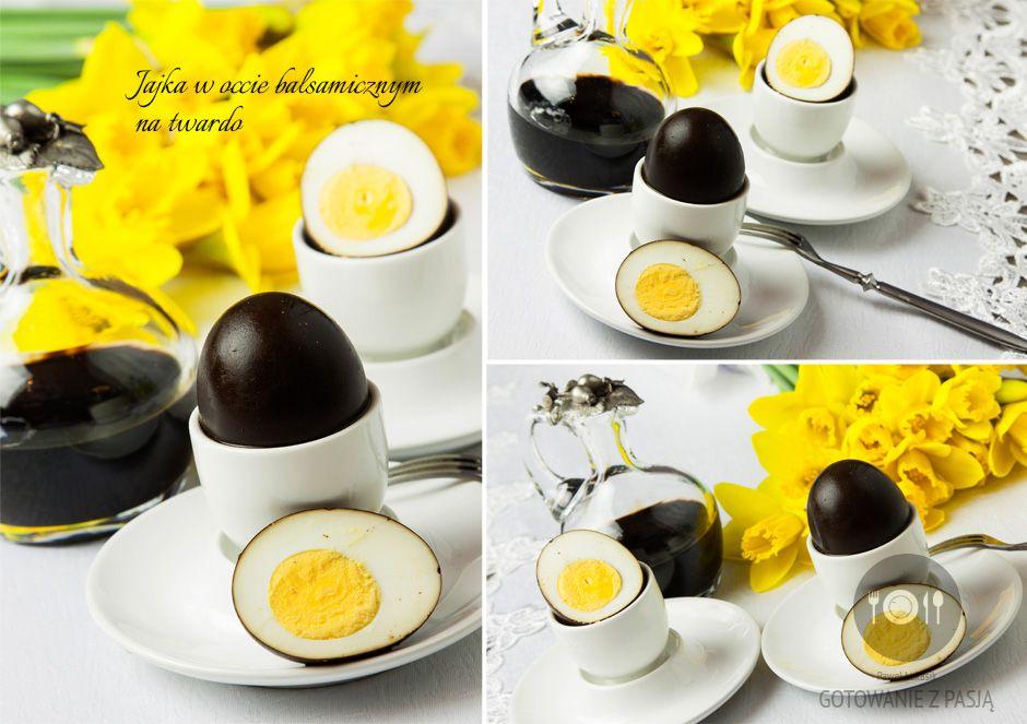 Jajka w occie balsamicznym na twardo